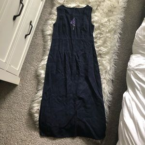 Vintage Babydoll Sleeveless linen maxi Dress u